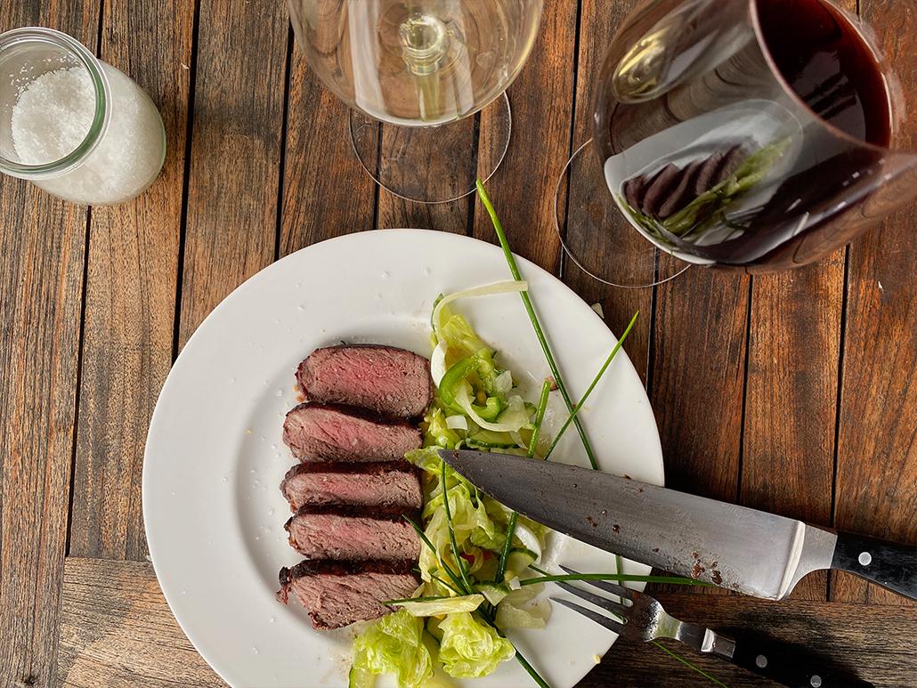 Rind-Steak Wein Weingarten Haselgraben Manfred Georg Friedl